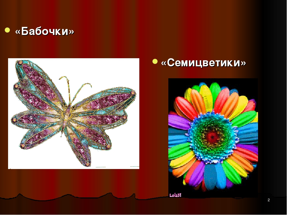 * «Бабочки» «Семицветики»