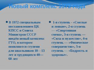 Новый комплекс 1972 года В 1972 специальным постановлением ЦК КПСС и Совета М