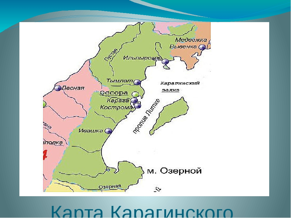 Карта Карагинского района