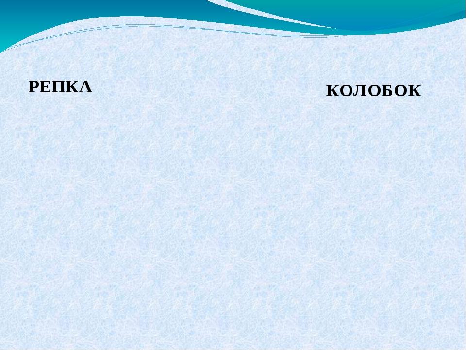 РЕПКА КОЛОБОК