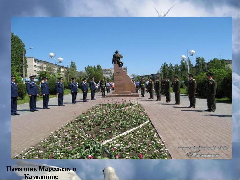 Памятник Маресьеву в Камышине