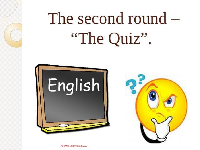 "The second round – ""The Quiz""."