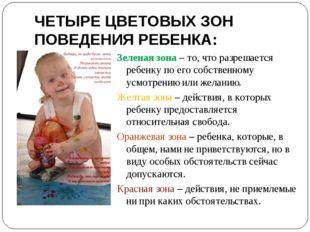 ЧЕТЫРЕ ЦВЕТОВЫХ ЗОН ПОВЕДЕНИЯ РЕБЕНКА: Зеленая зона – то, что разрешается реб