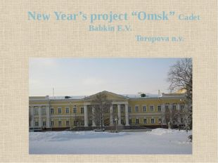 "New Year's project ""Omsk"" Cadet Babkin E.V. Toropova n.v."