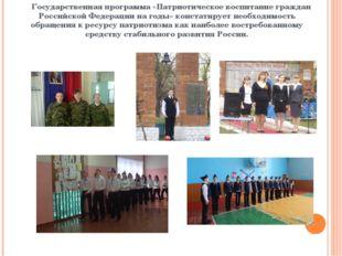 Государственная программа «Патриотическое воспитание граждан Российской Феде