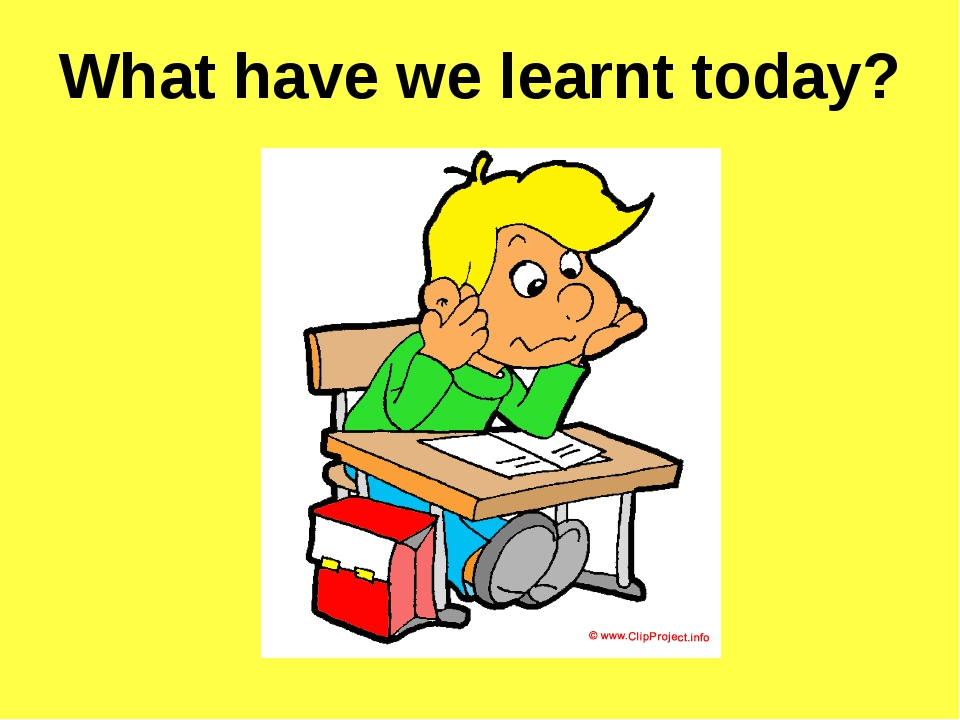 What have we learnt today?