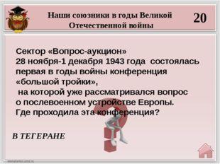 40 ЧЕРЕЗ ТРИ МЕСЯЦА. Наши союзники в годы Великой Отечественной войны СССР на