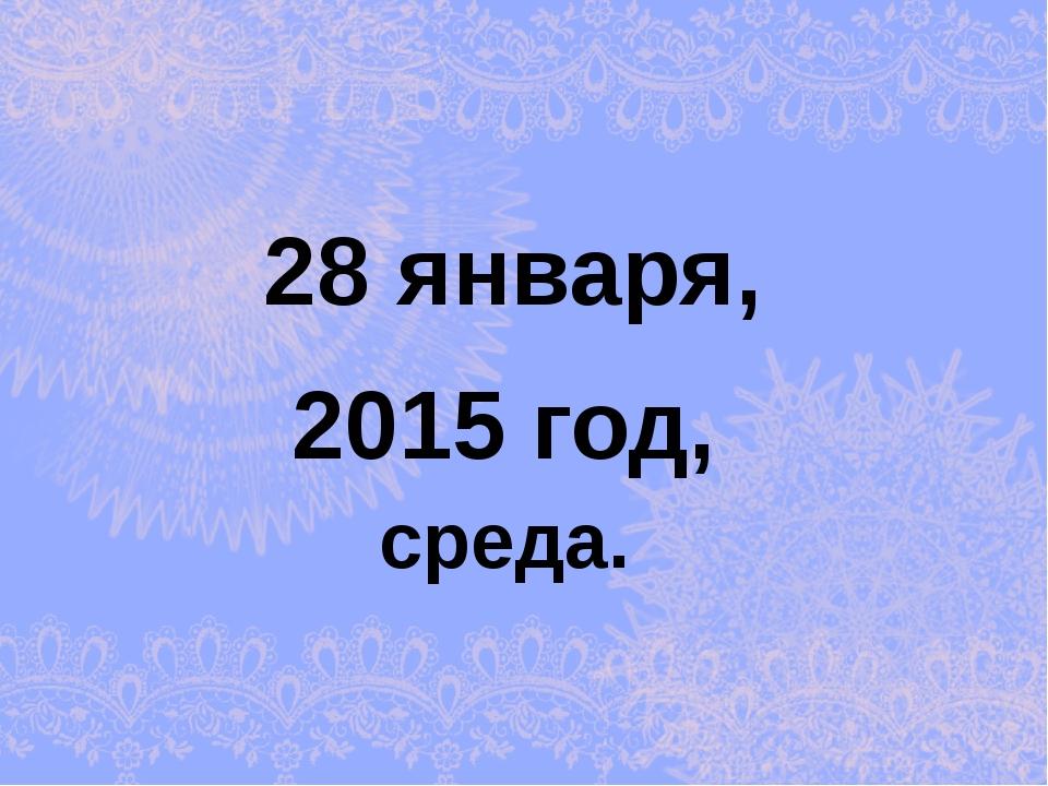 2015 год, 28 января, среда.