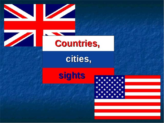 Countries, cities, sights
