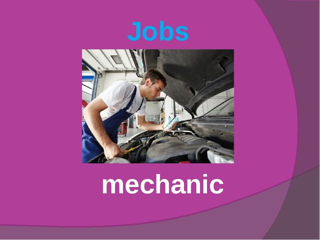 Jobs mechanic