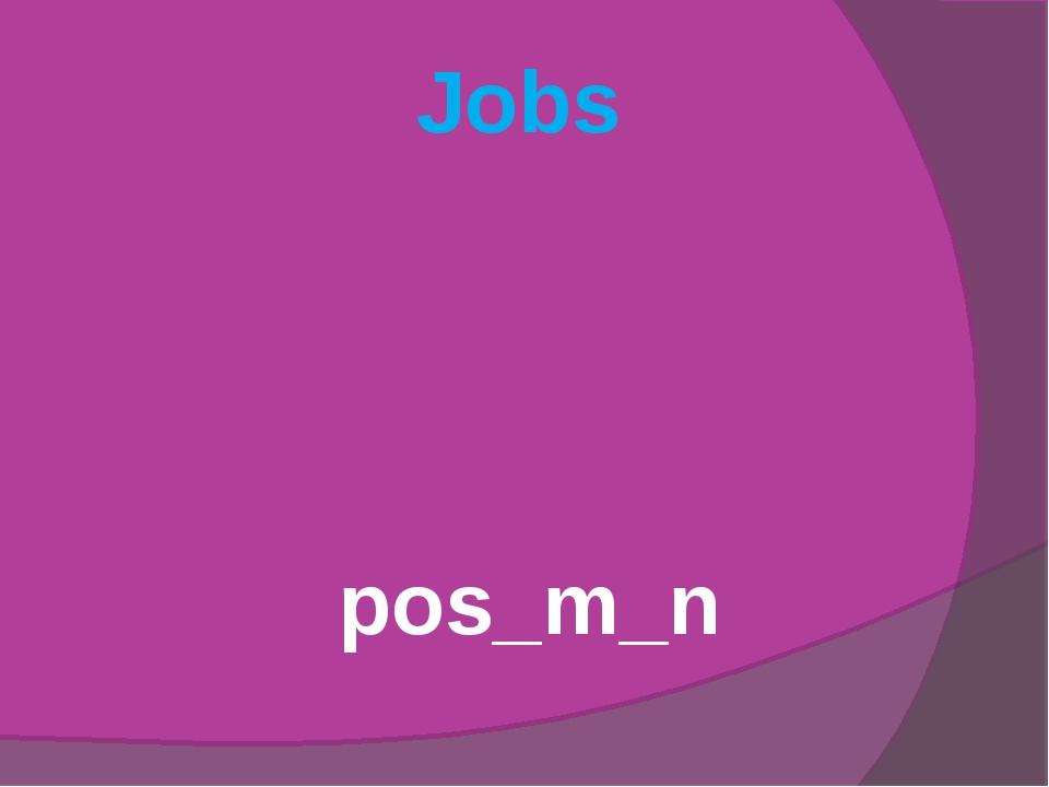 Jobs pos_m_n