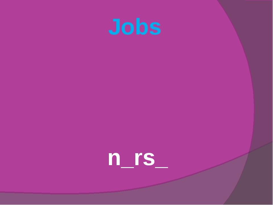 Jobs n_rs_