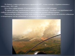 По данным главного регионального управления МЧС, лесные пожары в Бурятии на