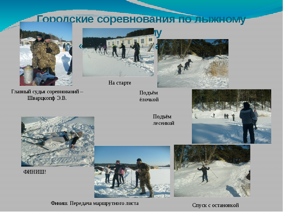 Городские соревнования по лыжному туризму «Школа безопасности» Главный судья...