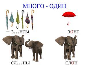 МНОГО - ОДИН з…нты зонт сл…ны слон