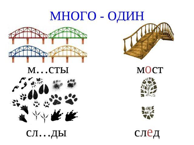 МНОГО - ОДИН м…сты мост сл…ды след