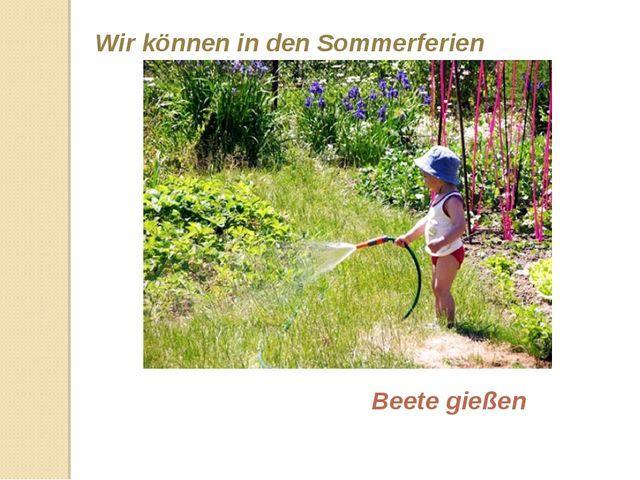 Wir können in den Sommerferien Beete gießen