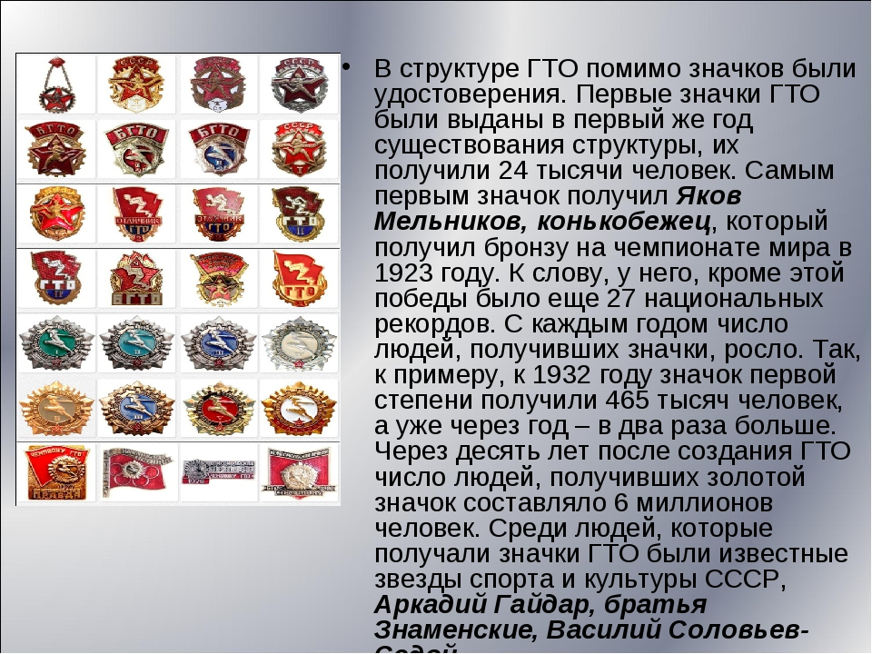 В структуре ГТО помимо значков были удостоверения. Первые значки ГТО были выд...
