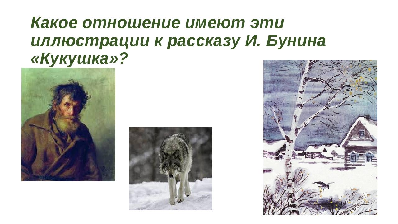 Какое отношение имеют эти иллюстрации к рассказу И. Бунина «Кукушка»?