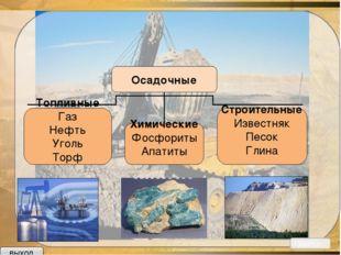Полезные ископаемые - минеральные образования земной коры, которые могут эфф