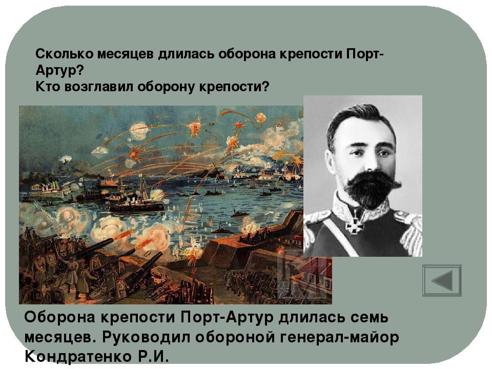 Кто принял решение о сдаче крепости Порт-Артур? Генерал Стессель А.М.