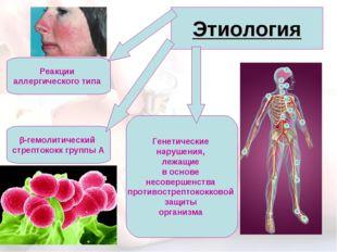 Этиология β-гемолитический стрептококк группы А Генетические нарушения, лежащ