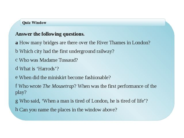 Answer the following questions. a How many bridges are there over the River...
