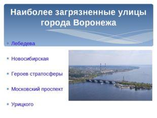 Лебедева Новосибирская Героев стратосферы Московский проспект Урицкого Наибол