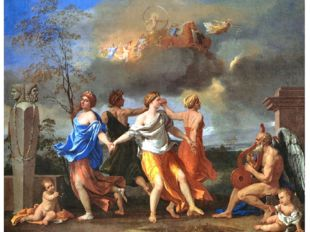 """Nicola Poussin """"Dancing with music of time"""" , 1636."""