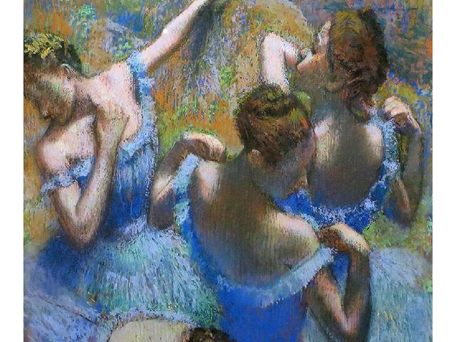 "Edgar Degas ""Blue dancers"", 1899"