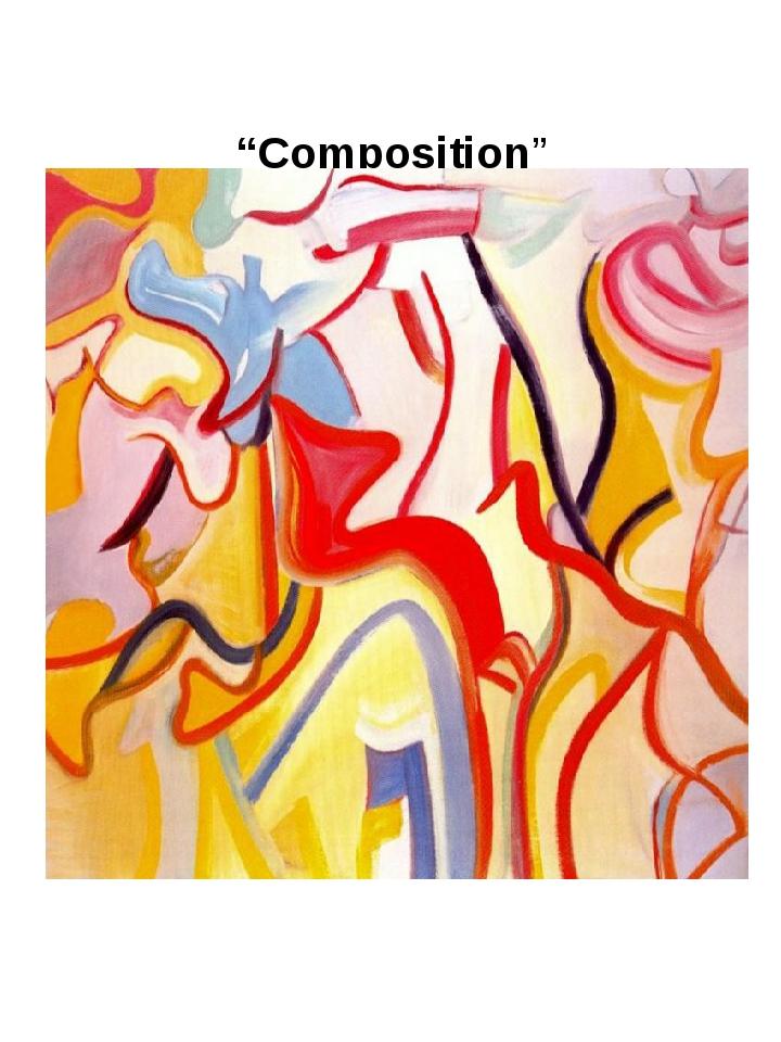 """""""Composition"""" Willem de Kooning, 1988"""