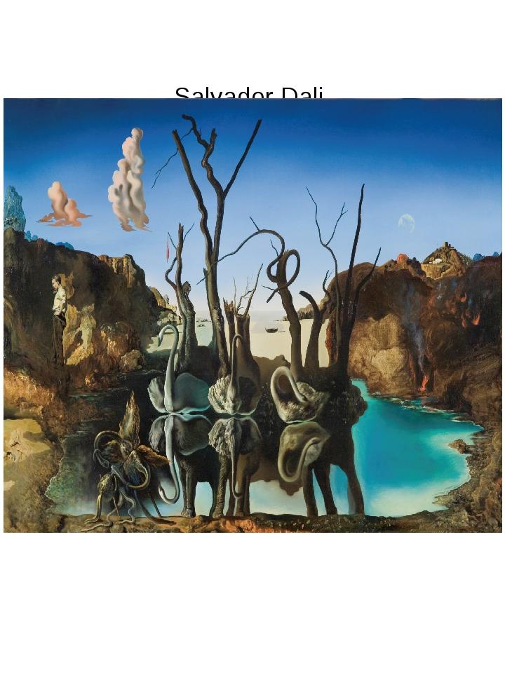 "Salvador Dali ""Swans reflecting elephants"", 1937"