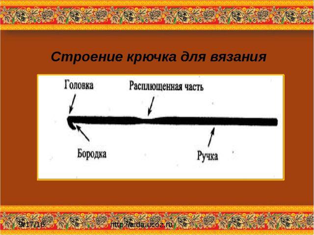 Строение крючка для вязания http://aida.ucoz.ru