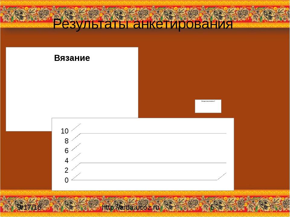 Результаты анкетирования http://aida.ucoz.ru