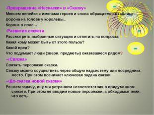 -Превращение «Несказки» в «Сказку» Меняем линейки с именами героев и снова об