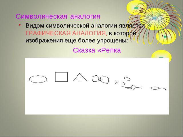 Символическая аналогия Видом символической аналогии является ГРАФИЧЕСКАЯ АНАЛ...