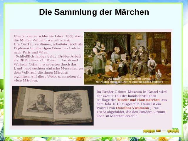Die Sammlung der Märchen