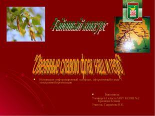 Номинация: информационный материал, оформленный в виде электронной презентаци