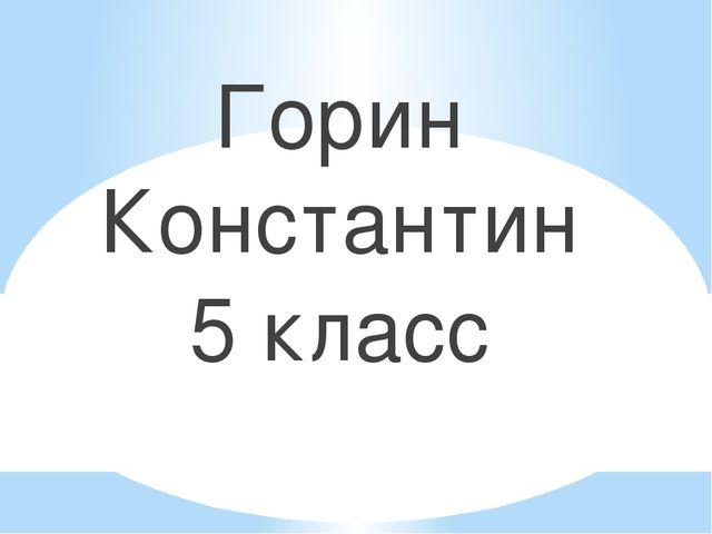 Горин Константин 5 класс