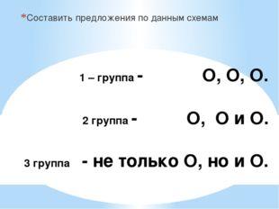 1 – группа - О, О, О. 2 группа - О, О и О. 3 группа - не только О, но и О. С
