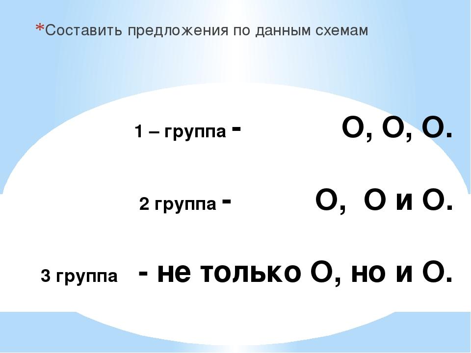 1 – группа - О, О, О. 2 группа - О, О и О. 3 группа - не только О, но и О. С...