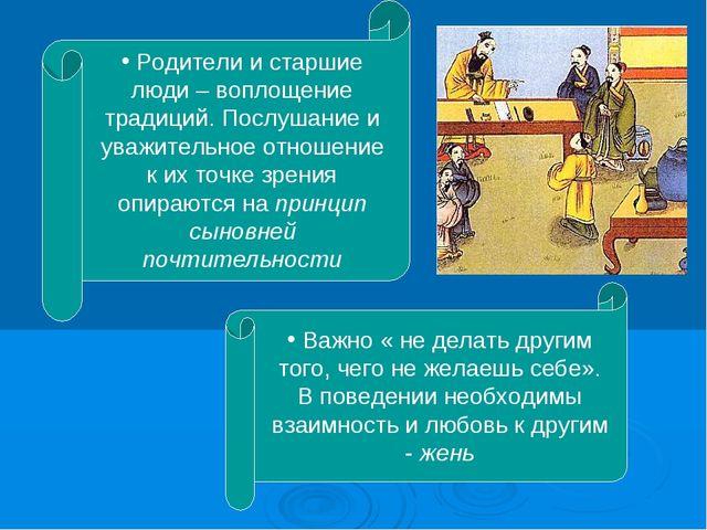 Родители и старшие люди – воплощение традиций. Послушание и уважительное отн...