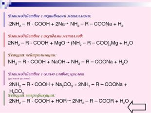 Взаимодействие с активными металлами: Взаимодействие с оксидами металлов: Реа