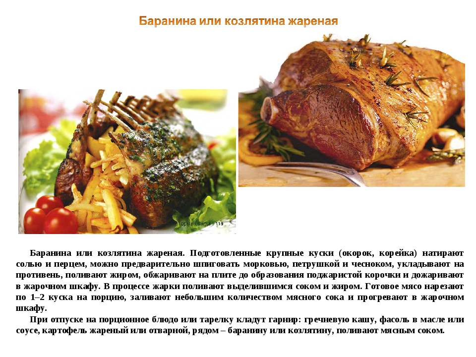Рецепты блюд из мяса баранины