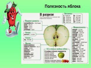 Полезность яблока