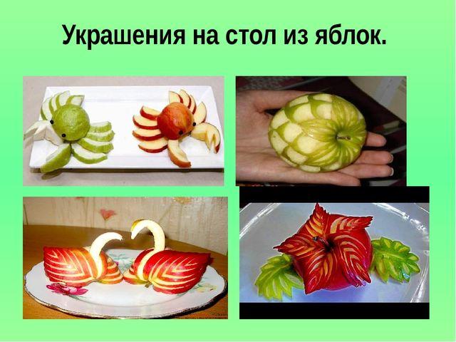 Украшения на стол из яблок.
