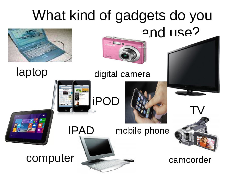 What kind of gadgets do you own and use? digital camera TV camcorder iPOD IPA...