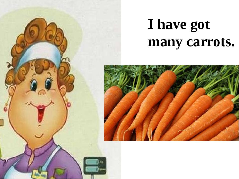 I have got many carrots.