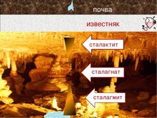 с сталактит с сталагмит сталагнат почва известняк