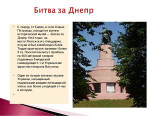 К северу от Киева, в селе Новые Петровцы, находится военно-исторический музей